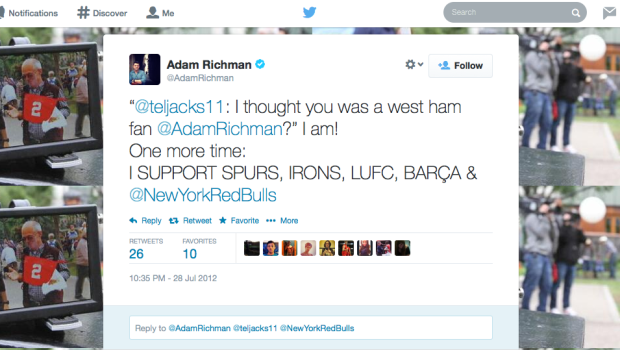 Adam Richman Is About As Tottenham As …Carlton Cole